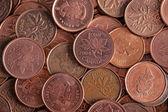 Bulk Canadian penny — Stock Photo