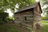 Vintage log home — Stock Photo
