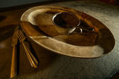 Antieque dinnerware — Stock Photo