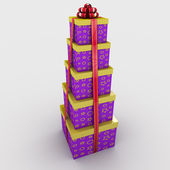 Five gift boxes — Stock Photo