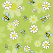 Bees daisies — Stock Vector #23179594