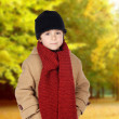 Adorable child warm — Stock Photo