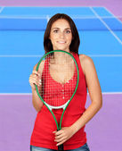 Girl tennis — Stockfoto