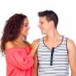 Beautiful Young happy smiling couple - Stock Photo