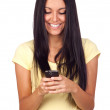 Young Pretty Woman Using a Mobile Phone — Stock Photo
