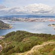Beautiful aerial view of Ferrol estuary - Stock Photo