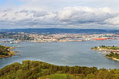 Beautiful aerial view of Ferrol estuary — Stock Photo
