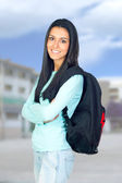 Young University Student with a Bagpack — Stock Photo