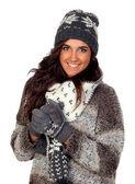 冬の衣類に身を包んだ美しい少女 — ストック写真