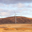 Landscape with wind park - Stock Photo