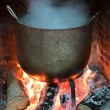 Cooking food in a pot - 图库照片