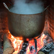 Cooking food in a pot — Stock Photo