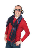 Sympathetic man with headphone — Stock Photo