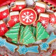 Stock Photo: Delicious cookies with Christmas shapes
