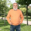 Senior man in the park - Stock Photo