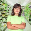 Stock Photo: Adorable preteen girl