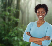 Attractive African woman — Stock Photo