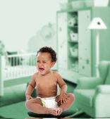 African baby crying — Stock Photo