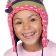 Happy latin child with bonnet wool — Stock Photo