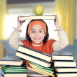 Adorable girl studying - Stock Photo