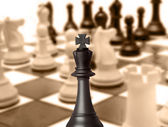 Black king chess piece — Stock Photo