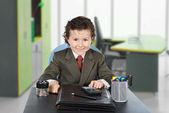 Adorable future businessman — Stock Photo
