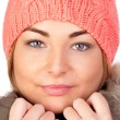 Attractive girl with winter clothes — Stock Photo