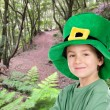 Child whit hat of Saint Patrick's - Stock Photo