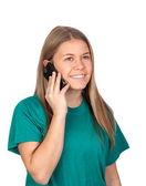 Teen girl speaking by mobile — Stock Photo