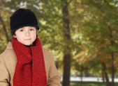 Child warm in a park — Stock Photo