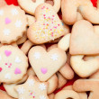 Cookies decorated with hearts - Stock Photo