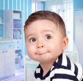 Beautiful baby with big eyes — Stock Photo