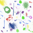 Wallpaper with abstract colorful shapes - Stok fotoraf
