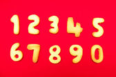 Appetizing cookies in shape numerals — Stock Photo