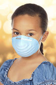 Little Girl Wearing Mask — Stock Photo