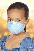Little Girl Wearing Mask — Stock Photo