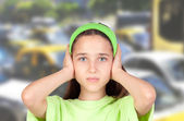 Deafening traffic — Stock Photo