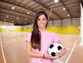Girl in the sports center — Stock Photo