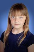 Adorável garota com lindos olhos — Fotografia Stock