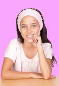 Pensive little girl with headband — Stock Photo