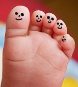 ładne stopy dziecka — Zdjęcie stockowe