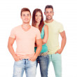 Pretty girl with two handsome boys — Stock Photo