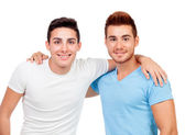 Portrait of two brothers — Stock Photo