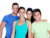 Group of friends with fitness clothes — Stock Photo