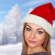 Sexy woman in Christmas — Stock Photo