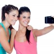 Two good friends getting a photo — Stock Photo