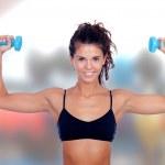 Beautiful woman do toning exercises — Stock Photo