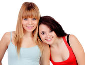 两个少女姐妹 — 图库照片