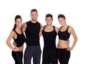 Group of young people with sport clothes — Stock Photo