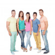 Casual group of friends — Stock Photo